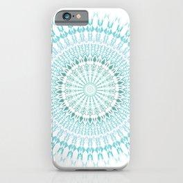Turquoise White Mandala iPhone Case