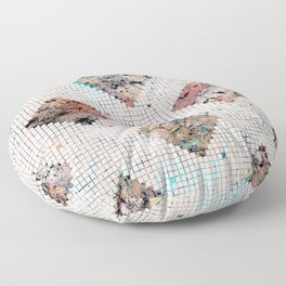 Pastel Check Pattern Floor Pillow