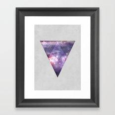 Space Tri Framed Art Print