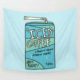 Iced Coffee Juicebox Wall Tapestry