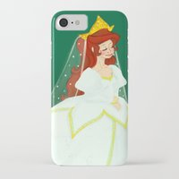 ariel iPhone & iPod Cases featuring Ariel by Delucienne Maekerr