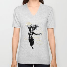 Flying Lasso Unisex V-Neck