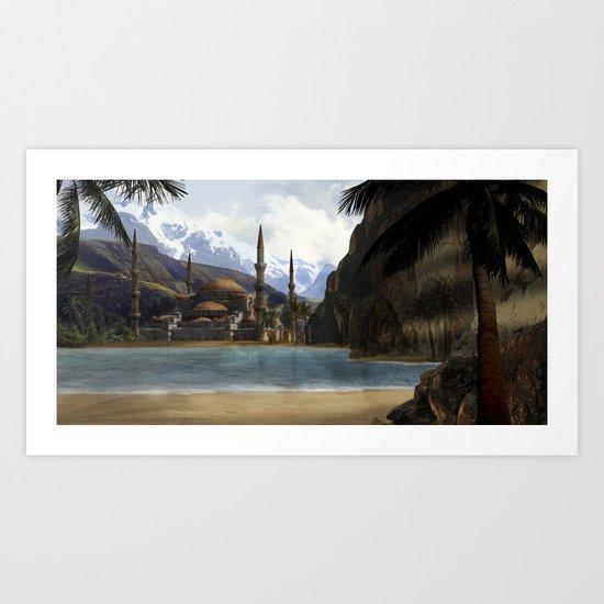 Hidden in the Mountains Art Print