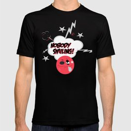Nobody Smiling Emoji- Infrared T-shirt