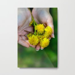 Handful of Sunshine Metal Print