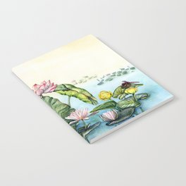 Japanese Water Lilies and Lotus Flowers Notebook