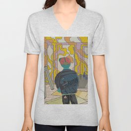 Finished Mural with the Crew Unisex V-Neck