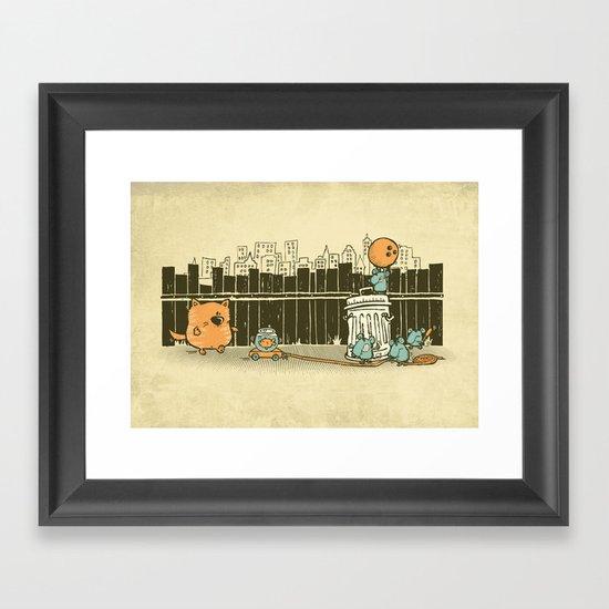 El plan Framed Art Print