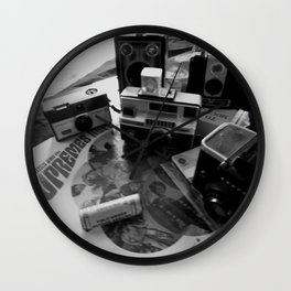 DAYS GONE BY BLACK AND WHITE 5 Wall Clock