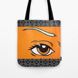 Eye orange 4 Tote Bag