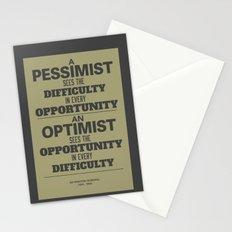 Pessimist / Optimist Stationery Cards