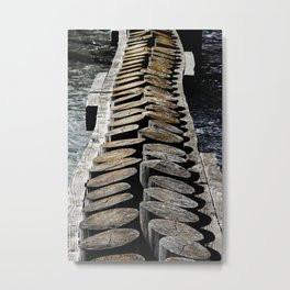 Wooden Posts Across the Water Metal Print