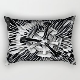 Passiflora Black and White Passion Flower Rectangular Pillow