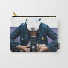 Bunny in a lavender field. Carry-All Pouch