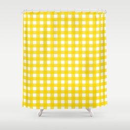 Vichy Karo Gelb Home Dekor Shower Curtain