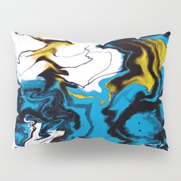 Dreamscape 01 in Blue, White & Gold Pillow Sham