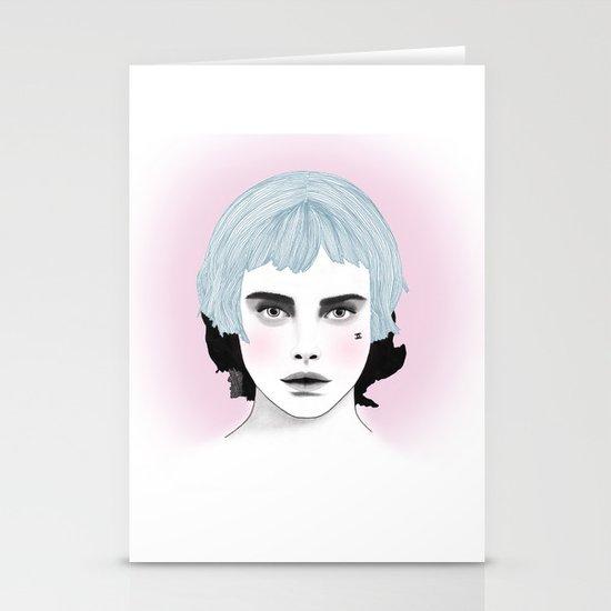 Fashion Illustration - Chanel Blue  Stationery Cards