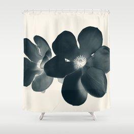 Cyan Magnolia #1 Shower Curtain