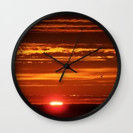 Red Sky Flight Wall Clock