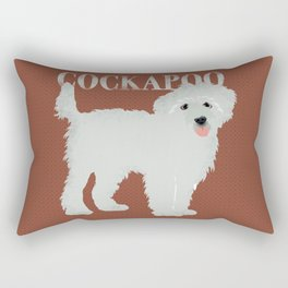 Cockapoo dog art Rectangular Pillow
