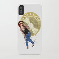 mucha iPhone & iPod Cases featuring Mucha Music Fan by Adriana Blake