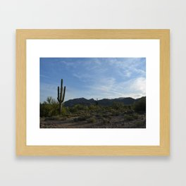 White Tank Mountain Framed Art Print