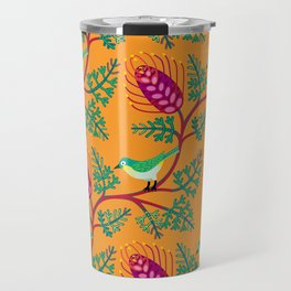 Grevillea and Silvereye Travel Mug