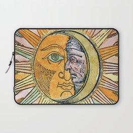 Sun and Moon Face Laptop Sleeve