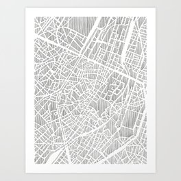 brussels city print Art Print
