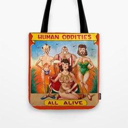 Sideshow Banner, Human Oddities Tote Bag