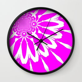 The Modern Flower Glowing Hot Pink Wall Clock