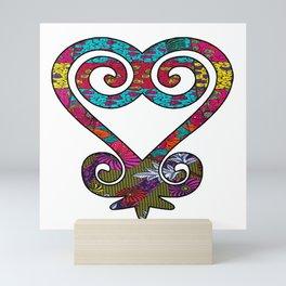 Pink & Pretty African Print Sankofa Heart Mini Art Print