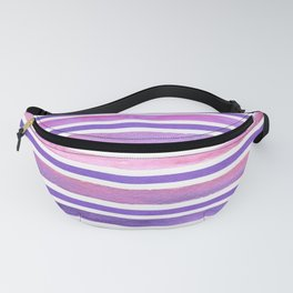 Colorful Watercolor Stripes Background Fanny Pack