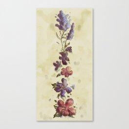 Bluebonnet, Violet and Hibiscus Canvas Print