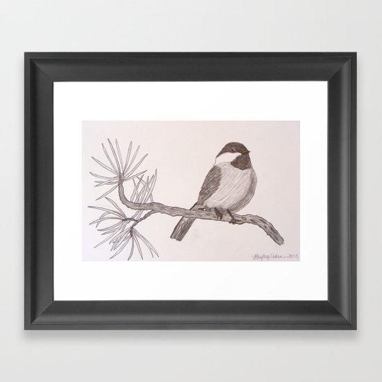 Chicka-dee-dee-dee Framed Art Print