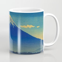Tsuchiya Koitsu Vintage Japanese Woodblock Print Mount Fuji Coffee Mug