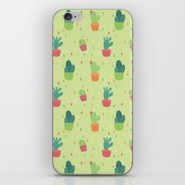 Cactus Party Pattern iPhone Skin