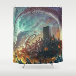 Lovecraft Monolith - By Lunart Shower Curtain