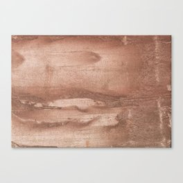 Brown abstract watercolor Canvas Print