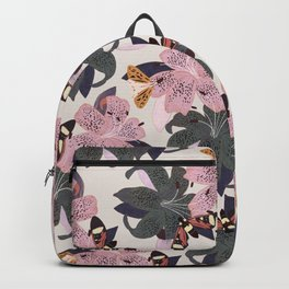 Lilies and butterflies insects Backpack