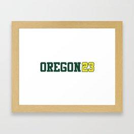 Oregon Class of 2023 Framed Art Print