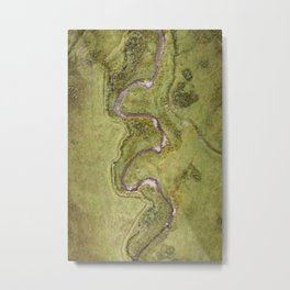 Rivers from Above   Coastal drone photography   Ecuador travel photography Metal Print