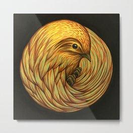 Bird Spiral Metal Print