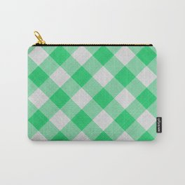 Green Gingham Carry-All Pouch