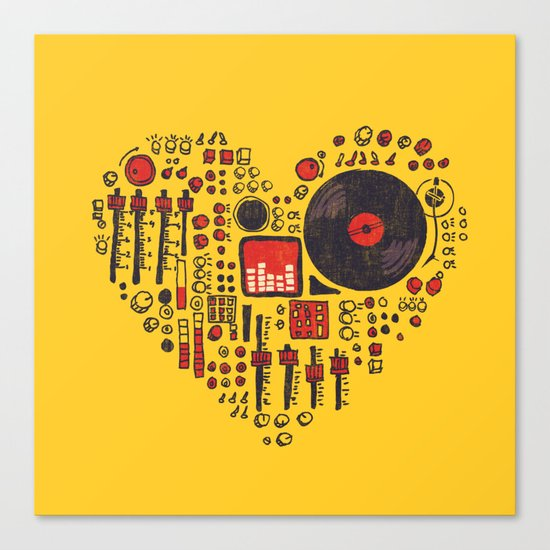 Music in every heartbeat Canvas Print
