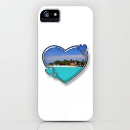 I Love The Maldives iPhone Case