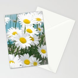 Daisies flowers in painting style 8 Stationery Cards