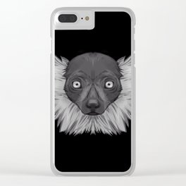 Icons of Africa - Ruffed Lemur Clear iPhone Case