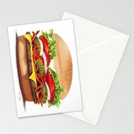 Bacon Cheeseburger by dana alfonso Stationery Cards