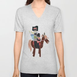 Zapatistas Ride Unisex V-Neck